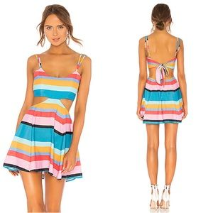 NWT Lovers + Friends Alexandra Striped Mini Dress